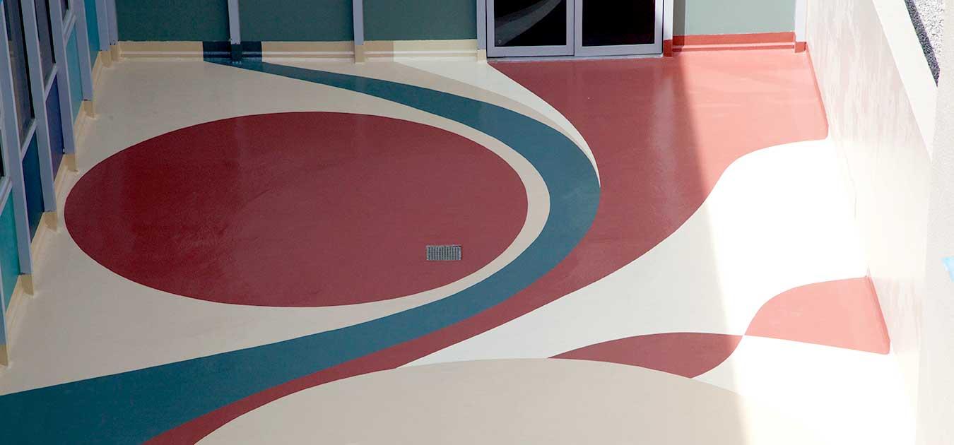 Decorative Flooring Application Dex O Tex