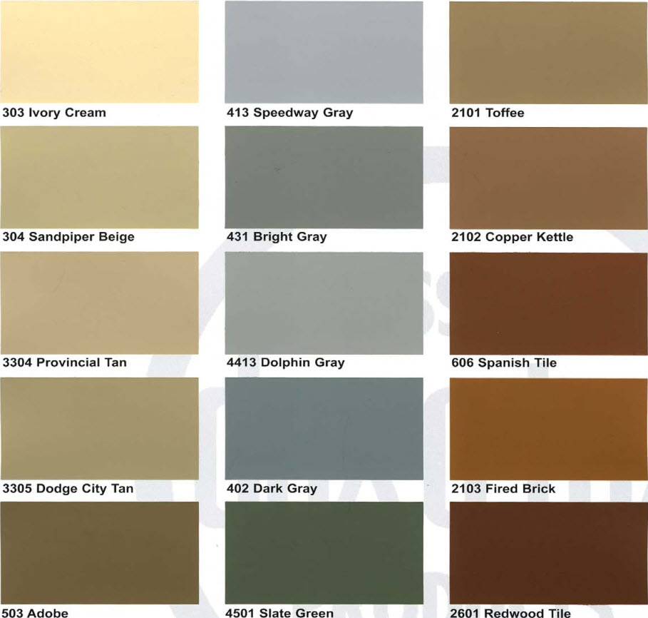 Dex O Tex Color Chart