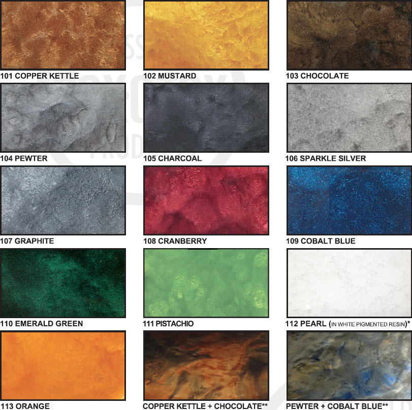 Metalic Er Color Chart