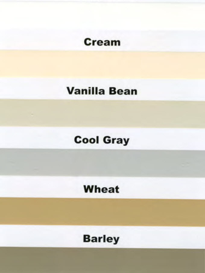 Wall Coating Color Chart