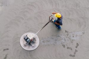 treating and smoothening concrete flooring